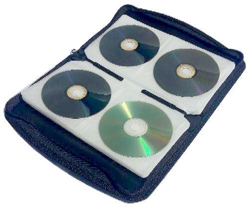 57d48d7bf6e5 CD tartó DVD tartó táska mappa 12 24 48 120 darabos lapozható tasakokkal  cipzáras polipropilénből készül tartós anyagból